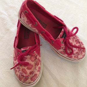 Sperry Top Sider pink Girls Size 13